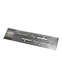 HKS Sticker Tuned by HKS Black 2pcs