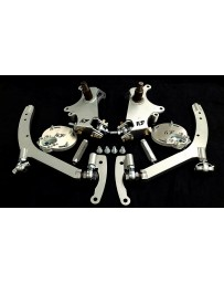 FDF RaceShop FORD MUSTANG S197 MANTIS ANGLE KIT With Caster Plates With On Car Adjustment RAW