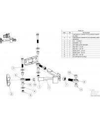 FDF RaceShop CORVETTE C5/C6 UPPER CONTROL ARM ASSEMBLY C5/C6 5/8 1/2 - 20 Nylock nut x1