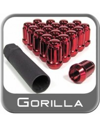 Crawford Gorilla Automotive Products - Small Diameter Lug Nuts with Key: 20 Pack Red