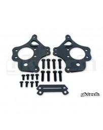 300zx Z32 GKTech 2 Pot Nissan Dual Caliper Brackets (Pair) - Nissan Skyline R32 R33 R34, 240SX S13 S14 S15