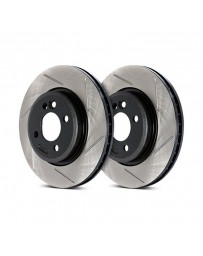 300zx Z32 Stoptech Direct Replacement Rotors - Front Pair, 26mm for 90 Non-Turbo Models Only Slotted