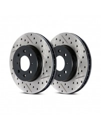 300zx Z32 Stoptech Direct Replacement Rotors - Front Pair, 26mm for 90 Non-Turbo Models Only Slotted-Drilled