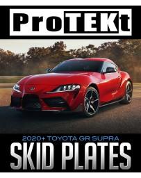 Toyota Supra GR A90 MK5 ProTEKt (All Models) Custom Fit Front Bumper Skid Plates