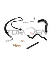 300zx Z32 CZP OEM Complete Power Steering System Hose Kit, LHD Models Only - Nissan 90-93 Twin Turbo TT Z32