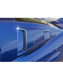2005-2009 Ford Mustang Couture Urethane CVX Window Scoop Louvers - 2 Piece