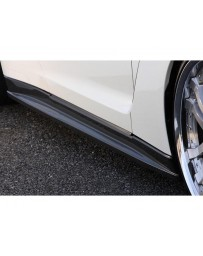 VeilSide 2009-2020 Nissan Skyline GTR R35 Ver. I Model Carbon Side Skirts (CFRP) 2 Small Emblems
