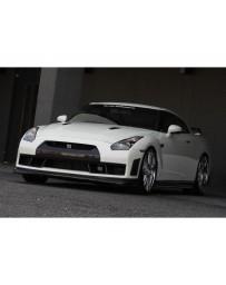 VeilSide 09-11 Nissan GTR R35 Ver. I Model Carbon Front Bumper Spoiler (CFRP) (Can be use for 12-20 models LED lights delete)