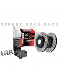 EVO 8 & 9 StopTech Front Driver/Passenger Side Brake Rotor and Front Brake Pads