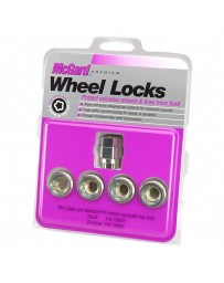 R35 McGard Silver Under Hub Cap Cone Seat Wheel Lock Set