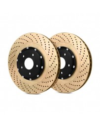 R35 StopTech AeroRotor Drilled 2-Piece Front Driver Side Brake Rotors