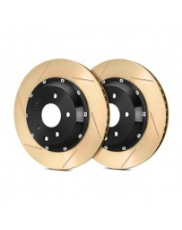 R35 StopTech AeroRotor Slotted 2-Piece Rear Driver Side Brake Rotors