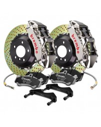 R35 Brembo GT-R Series Cross Drilled 2-Piece Rotor Front Big Brake Kit