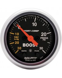 R33 AutoMeter Sport-Comp Electronic Boost Warning Gauge 30 PSI - 52mm