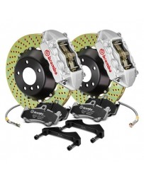 R32 Brembo GT Series Cross Drilled 2-Piece Rotor Rear Big Brake Kit