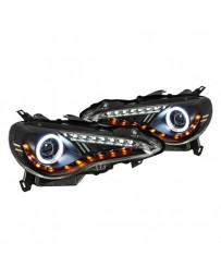 Toyota GT86 Spyder Black CCFL Halo Projector LED Headlights