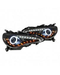 Toyota GT86 Spyder Black CCFL Halo Projector LED Headlights