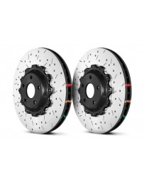 370z DBA 5000 Series Drilled/Slotted Rotor Set, 2pc 2 Piece Front Sport Model Akebono Calipers