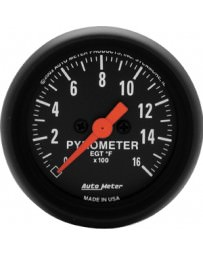 370z AutoMeter Z-Series Electronic Full Sweep Pyrometer Gauge 0-1600 Deg F - 52mm