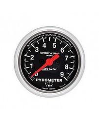 370z AutoMeter Sport-Comp Electronic Pyrometer Gauge 0-900 Deg C - 52mm