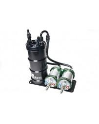 370z Radium Engineering Dual External Bosch 044 Vertical Fuel Surge Tank (Pumps Not Incl)