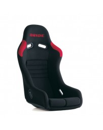 370z Bride Vios III Reims Bucket Seat, Black / Red FRP - Low Max System