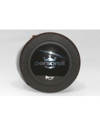 370z Personal Horn Button Silver Logo with Black Back