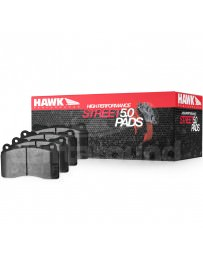 350z Hawk Performance Street 5.0 Brake Pads, Front with Stoptech ST-40 Calipers