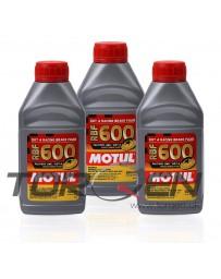 350z Motul RBF 600 Racing Brake Fluid DOT 4, 3-Pack