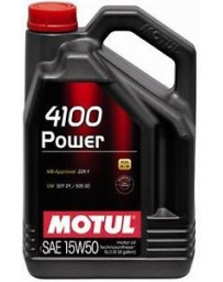 370z Motul 4100 POWER 15W50 Synthetic Engine Oil - 1 Liter