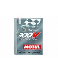 370z Motul 300V COMPETITION 15W50 Synthetic Ester Racing Oil - 2 Liters