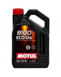 370z Motul 8100 ECO-LITE 5W30 Synthetic Engine Oil - 5 Liter