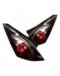 350z DE 2003-2005 Spyder Euro Style Tail Lights Black ALT-YD-N350Z02-BK