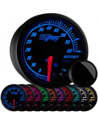 370z GlowShift Elite 10 Color 60 PSI Electronic Boost Gauge