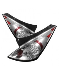 350z DE 2003-2005 Spyder LED Tail Lights Chrome ALT-YD-N350Z02-LED-C