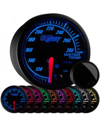 350z GlowShift Elite 10 Color Water Temperature Gauge