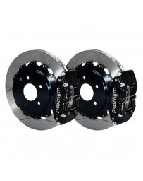 350z Wilwood Street Performance GT Slotted Rotor DynaPro Caliper 4Pot Rear Brake Kit for OE Parking Brakes