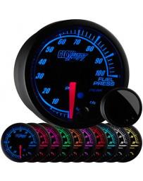 370z GlowShift Elite 10 Color 100 PSI Fuel Pressure Gauge