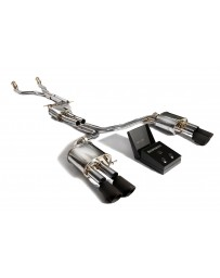 ARMYTRIX Stainless Steel Valvetronic Catback Exhaust System Quad Matte Black Tips Audi S5 B8 Coupe Cabrio 3.0-4.2