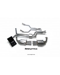 ARMYTRIX Stainless Steel Valvetronic Catback Exhaust System Quad Matte Coated Tips Audi A7 C7 3.0 TFSI V6 11-17