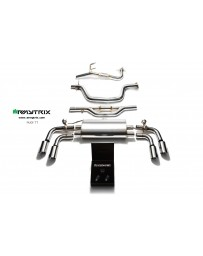 ARMYTRIX Stainless Steel Valvetronic Catback Exhaust System Quad Chrome Silver Tips Audi TT MK2 8J 2WD 07-14
