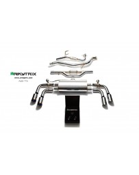 ARMYTRIX Stainless Steel Valvetronic Catback Exhaust System Quad Matte Black Tips Audi TT MK2 8J 4WD 07-14