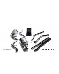 ARMYTRIX Stainless Steel Valvetronic Catback Exhaust System Quad Blue Coated Tips BMW M3 E9x 08-13