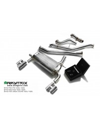 ARMYTRIX Stainless Steel Valvetronic Catback Exhaust System Quad Chrome Silver Tips 3-Series 4-Series F3x 11-14