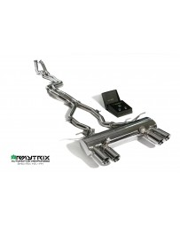 ARMYTRIX Stainless Steel Valvetronic Catback Exhaust System Quad Chrome Silver Tips BMW M3 M4 F8x 15-17