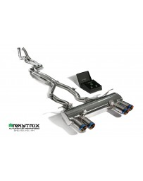 ARMYTRIX Stainless Steel Valvetronic Catback Exhaust System Quad Blue Coated Tips BMW M3 M4 F8x 15-17