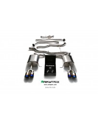 ARMYTRIX Stainless Steel Valvetronic Catback Exhaust System Quad Blue Coated Tips BMW 5-Series F10 11-17