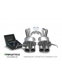ARMYTRIX Stainless Steel Valvetronic Catback Exhaust System Matte Black Tips Chevrolet Corvette Z06 C7 LT4 6.2L Supercharged