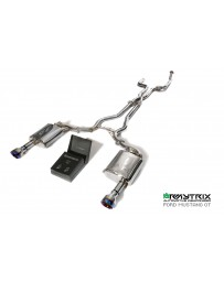 ARMYTRIX Stainless Steel Valvetronic Catback Exhaust System Dual Chrome Silver Tips Ford Mustang GT Coyote 5.0L V8 15-18