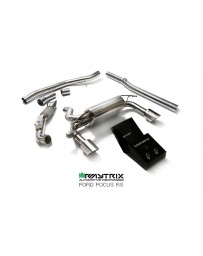 Armytrix Stainless Steel Exhaust System Dual Matte Black Ford Focus RS MKII 16-18